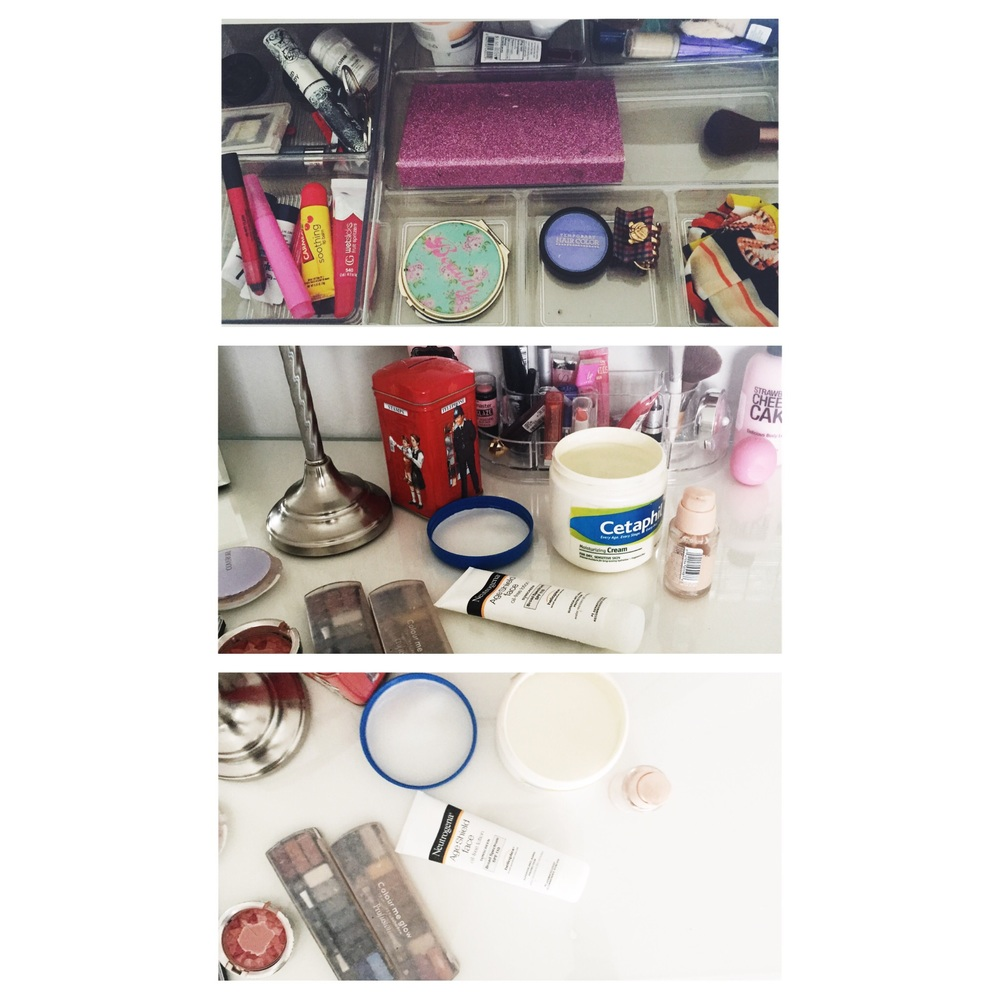 My vanity gets very messy on weekends