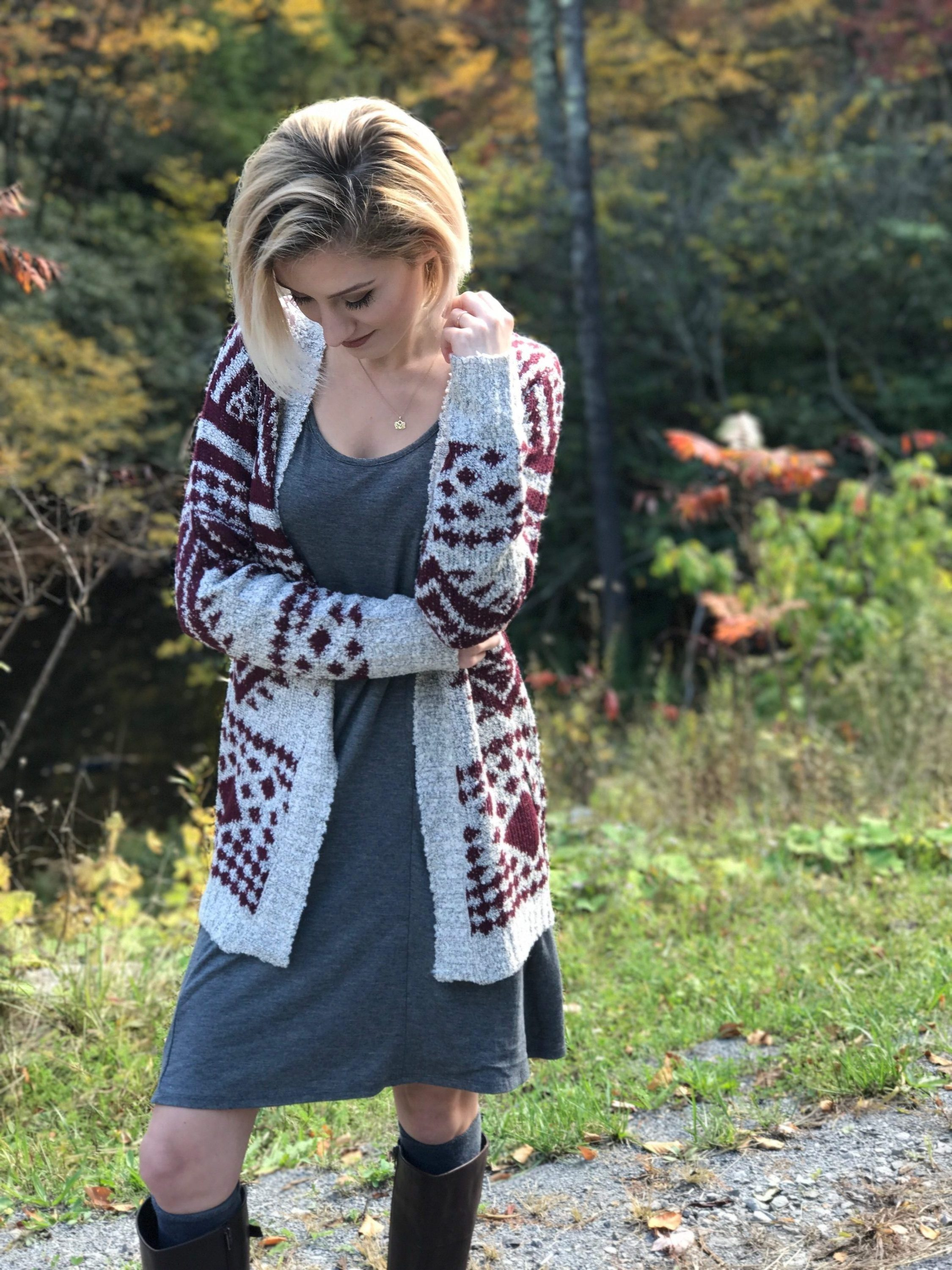 Fall Fashion Layered Pocketed Dress