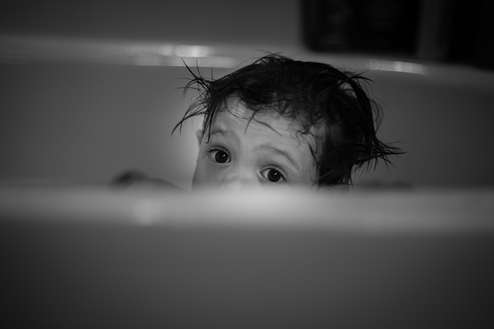 Black and white kid photography