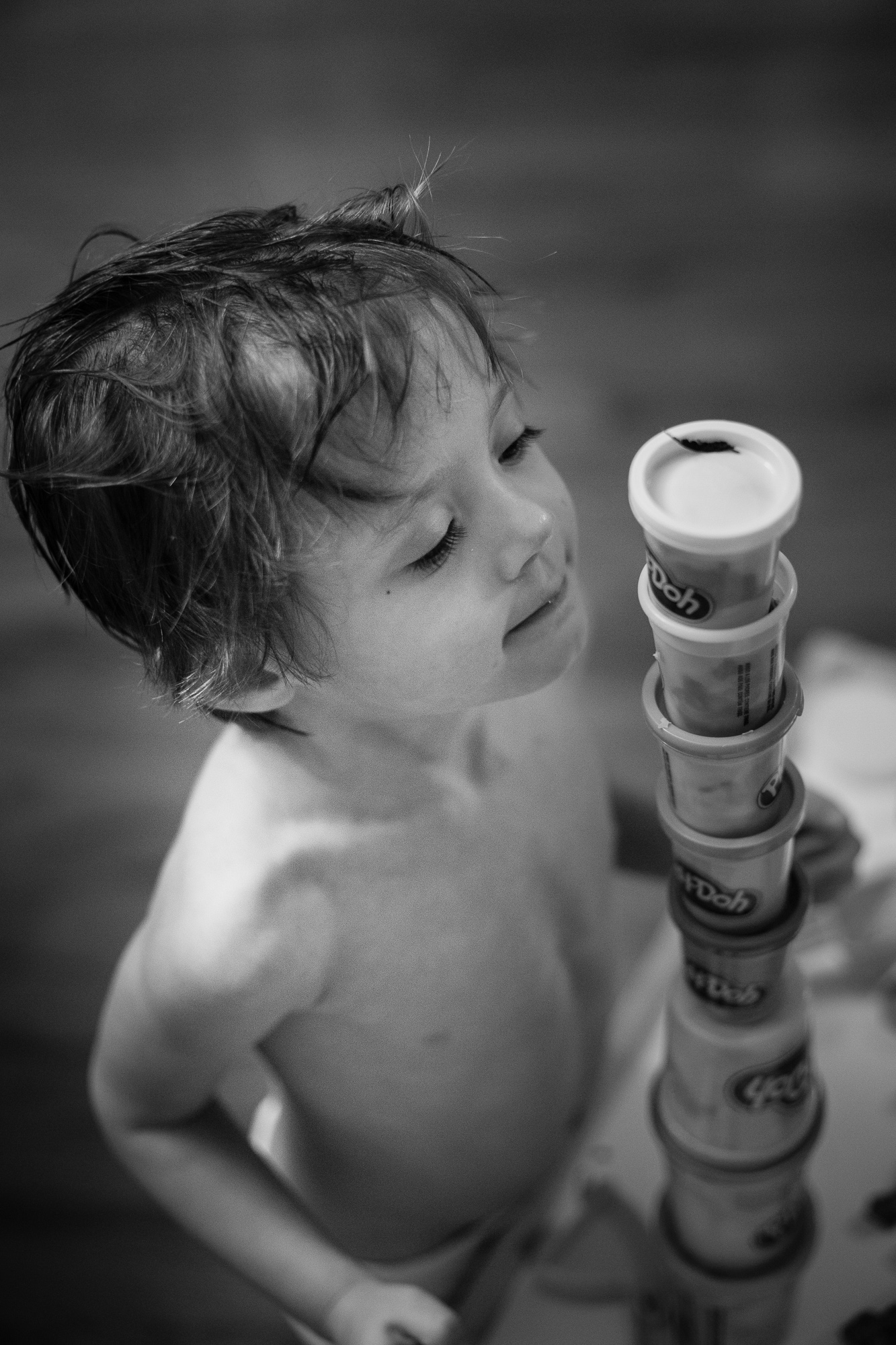 Toddler photography- Playing with play doh