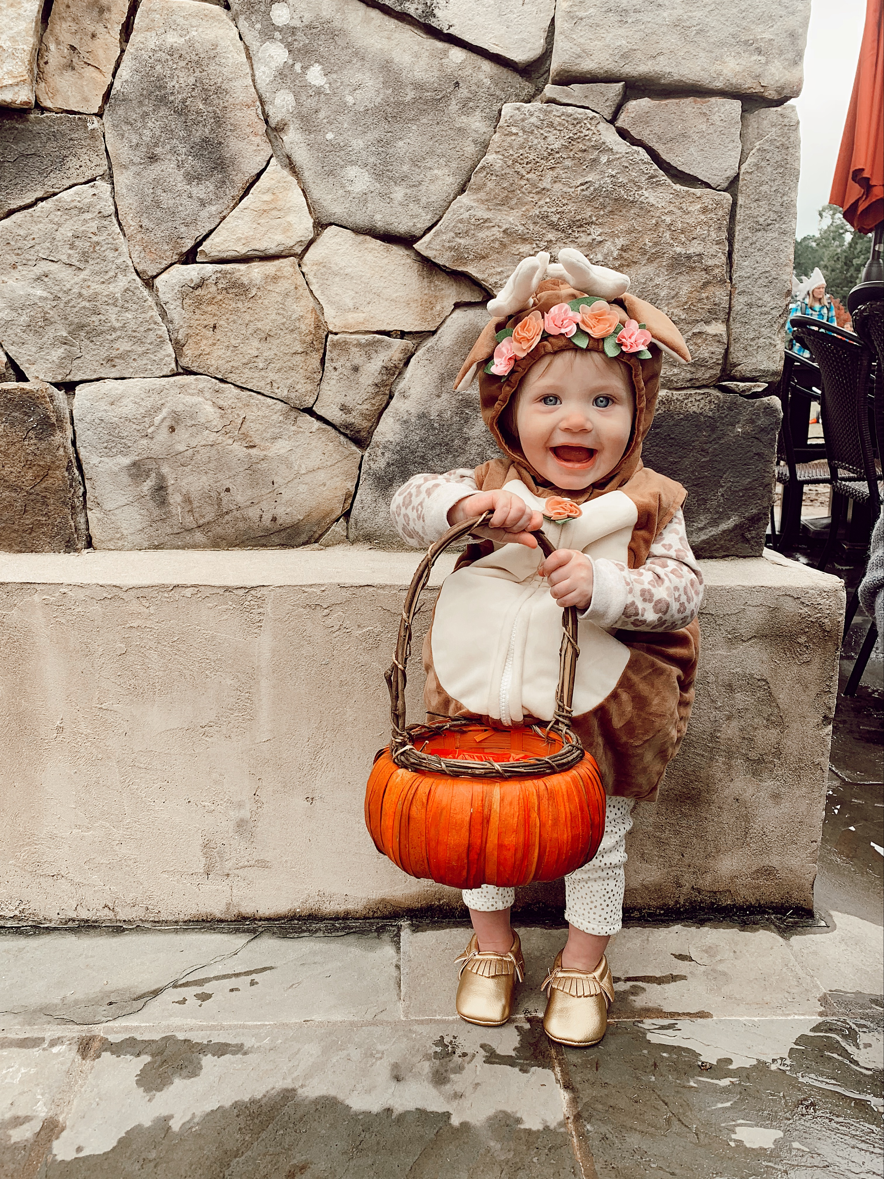 Baby girl deer Halloween costume | North Carolina Fashion & lifestyle blogger, Jessica Linn, sharing an Instagram post roundup on Linn Style.