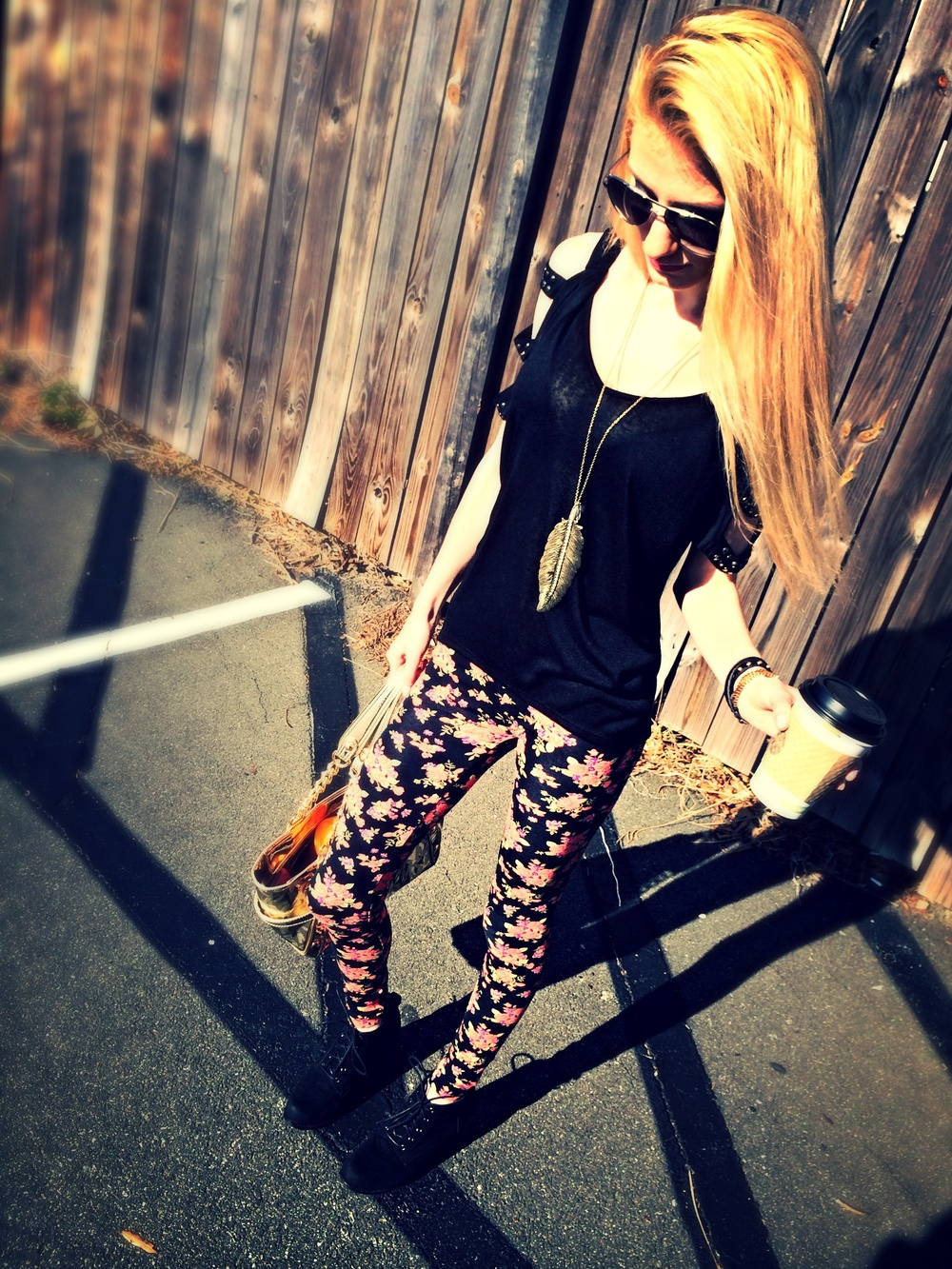 Black and Floral