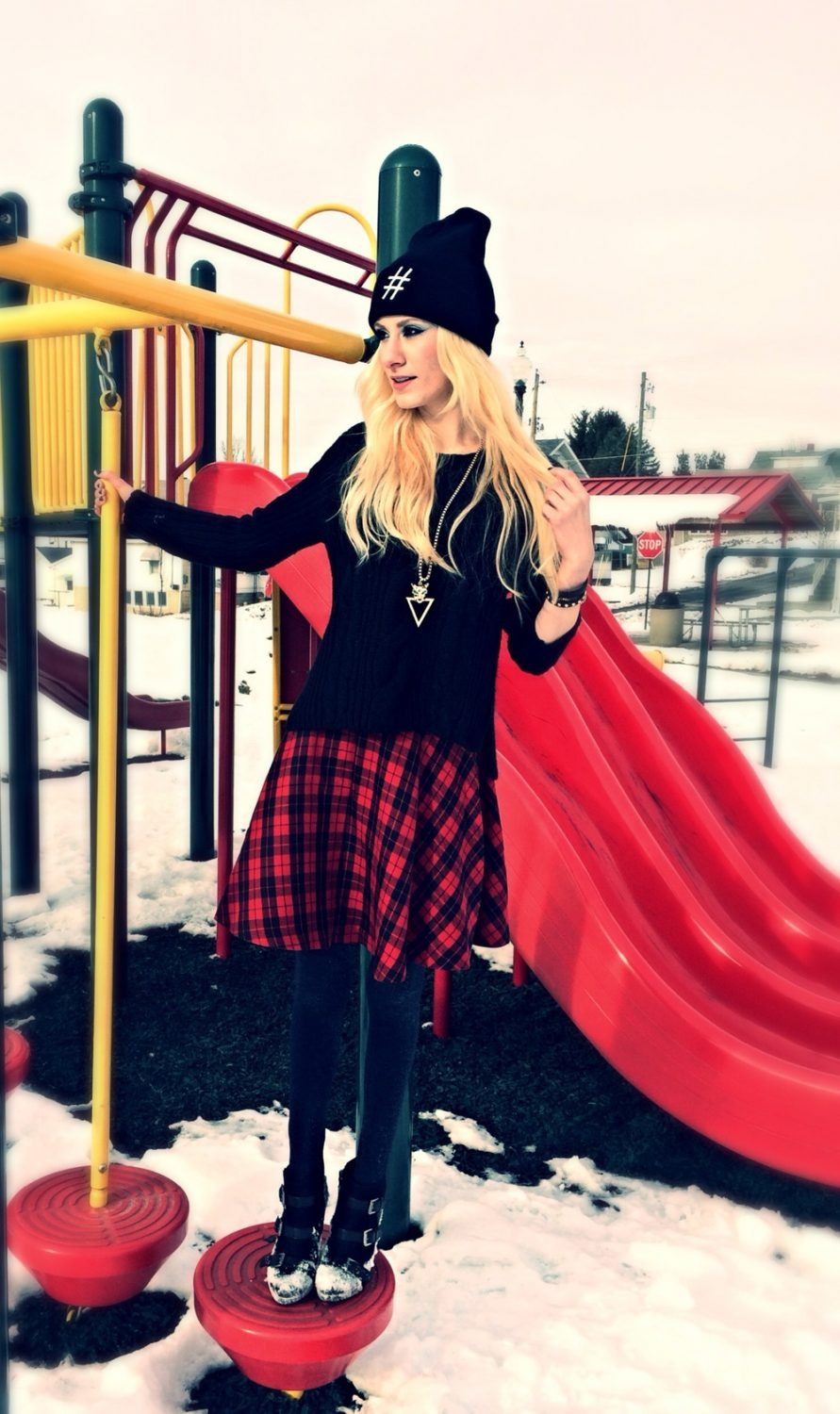 Plaid Skirt Sweater Weather | Winter Fashion Inspiration