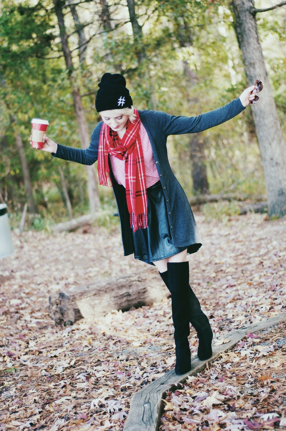 Over The Knee Boots Outfit Inspiration | Fall and winter fashion outfit inspiration by North Carolina fashion and lifestyle blogger Jessica Linn of Linn Style.