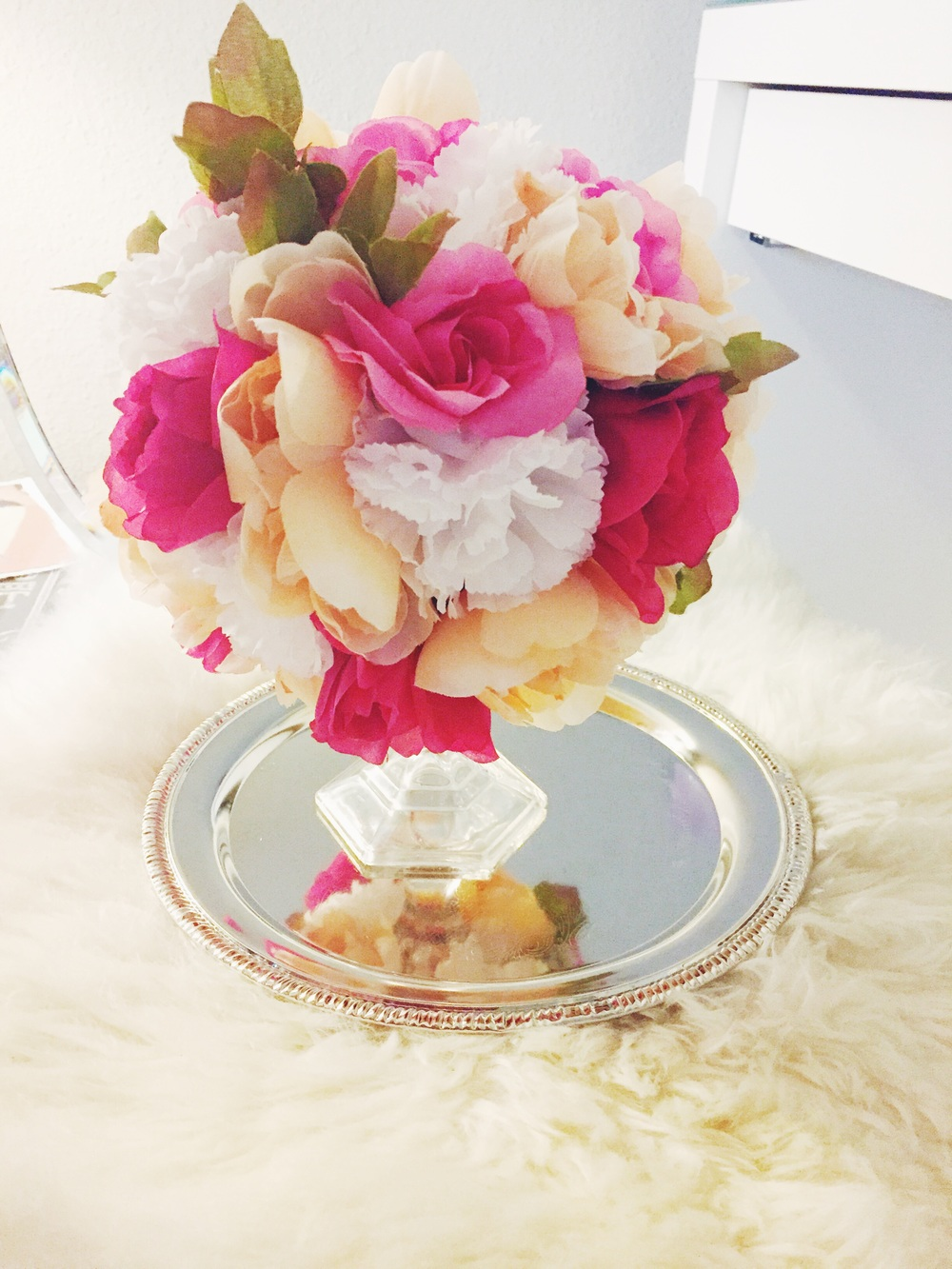 DIY Floral Sphere Center Piece