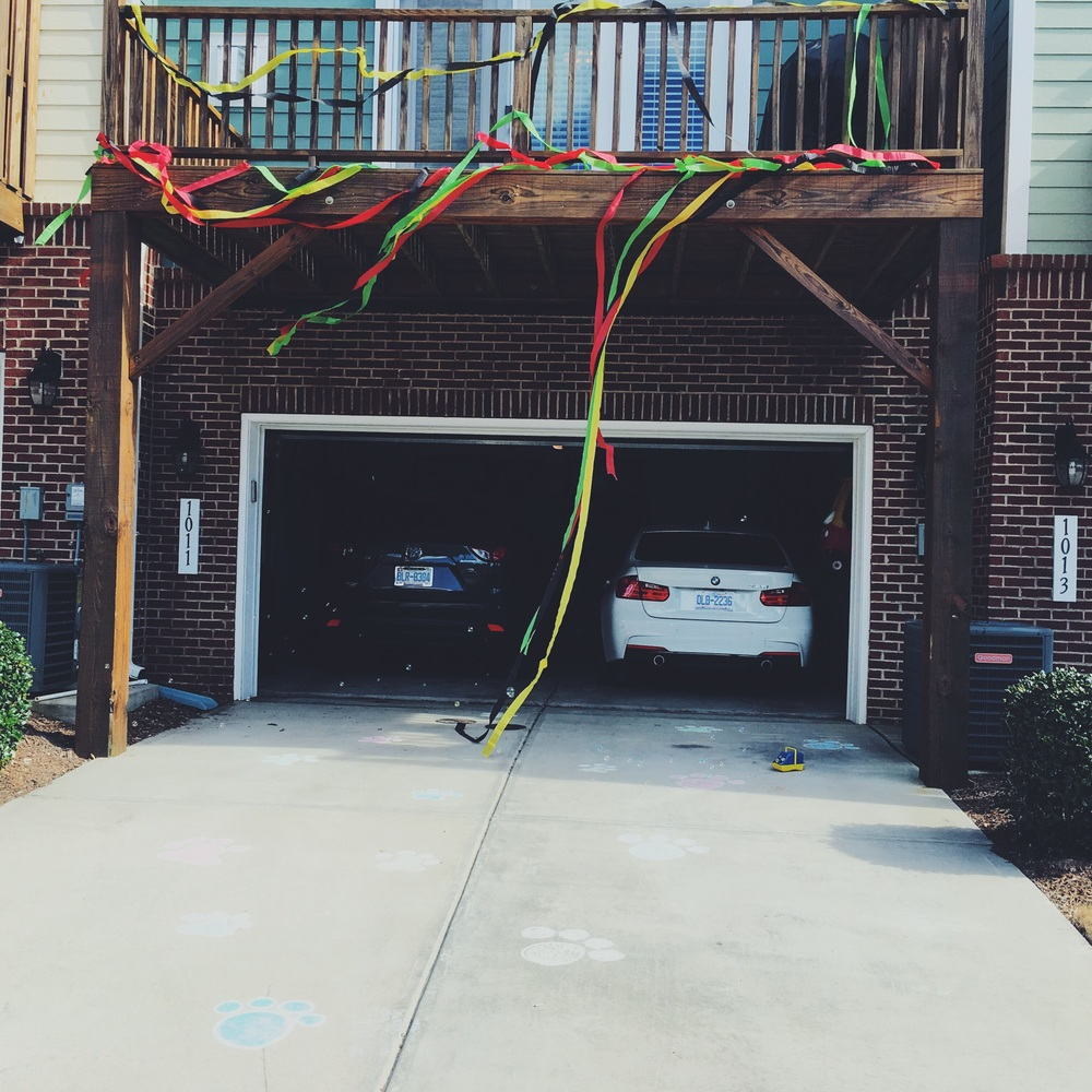 I got weird looks and stares from my neighbors as I layered my porch in streamers.
