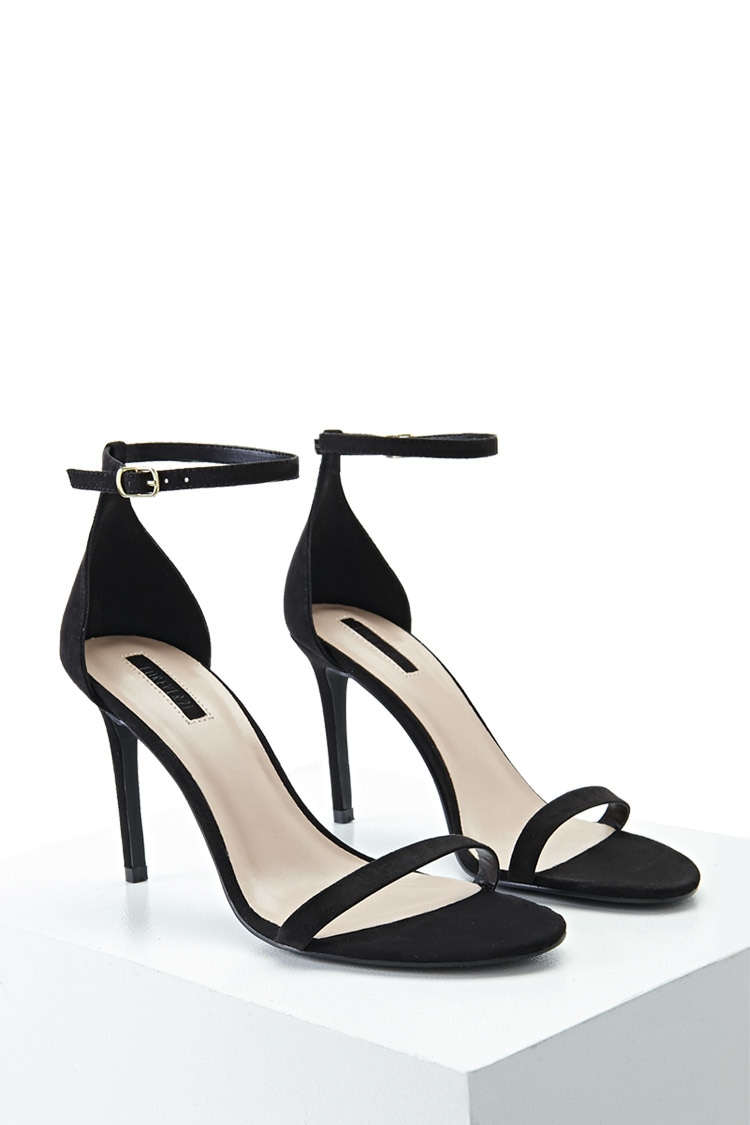 Black Strappy Heels from Forever21