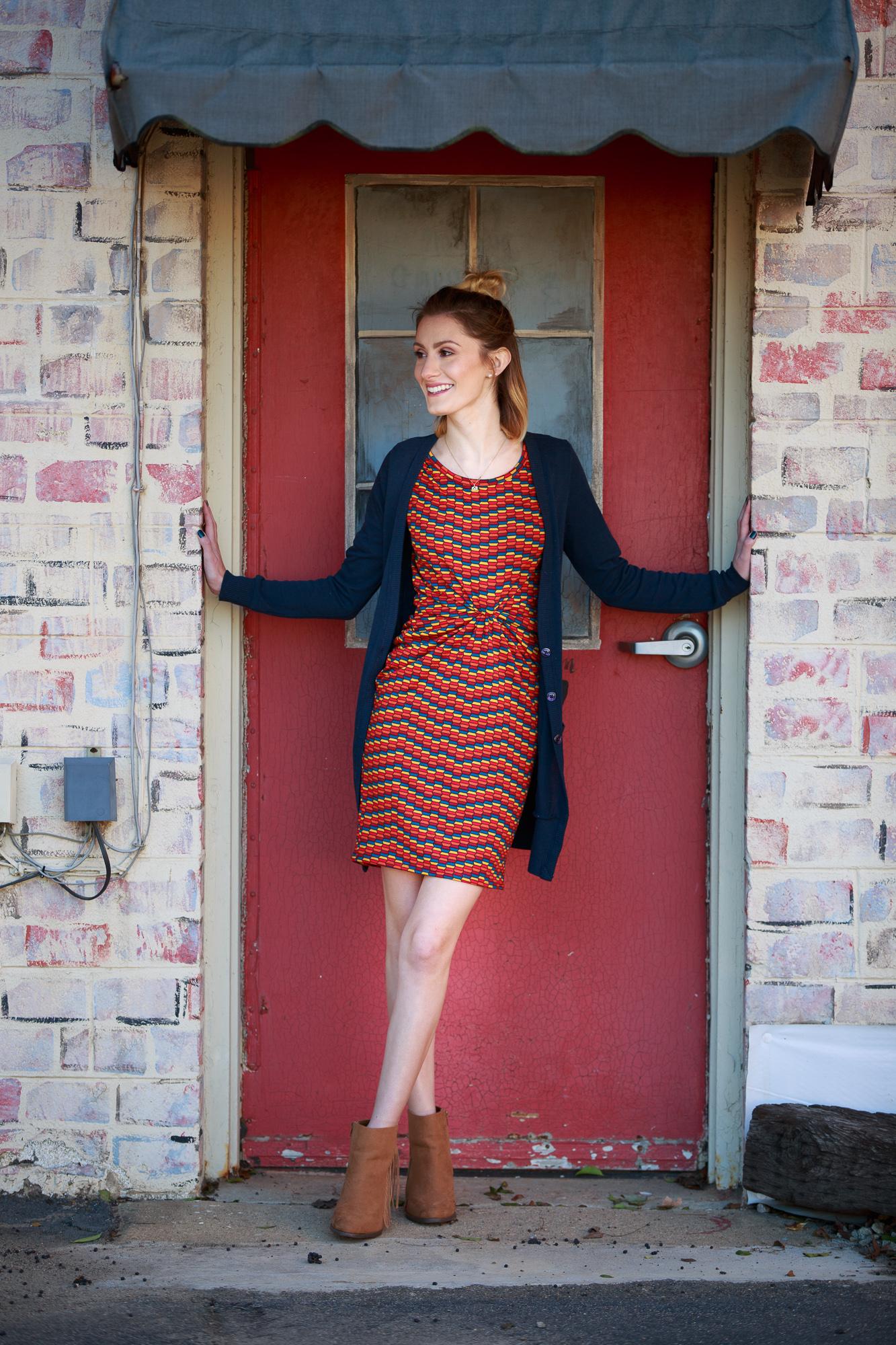 LulaRoe Julia Dress by Angela Lang photos in Downtown Cary North Carolina