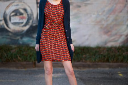 LulaRoe Julia Dress Angela Lang Fashion Photography photoshoot in Historic Downtown Cary North Carolina by Fashion blogger Jessica Linn