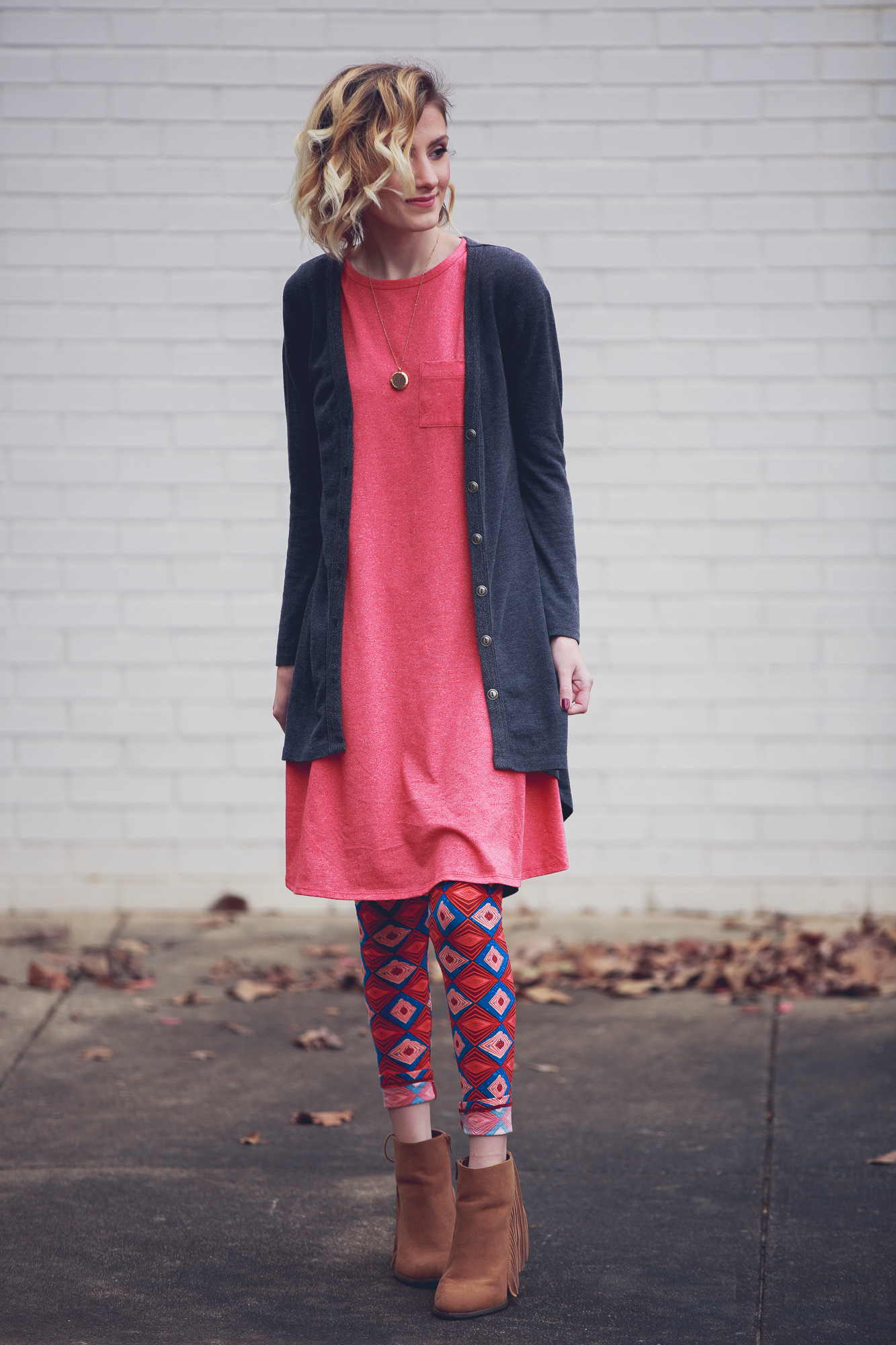 Fashion photo of the Carly Dress from LulaRoe Life by Angela Lange