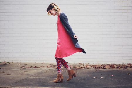 Fashion photo of the Carly Dress from LulaRoe Life by Angela Lange