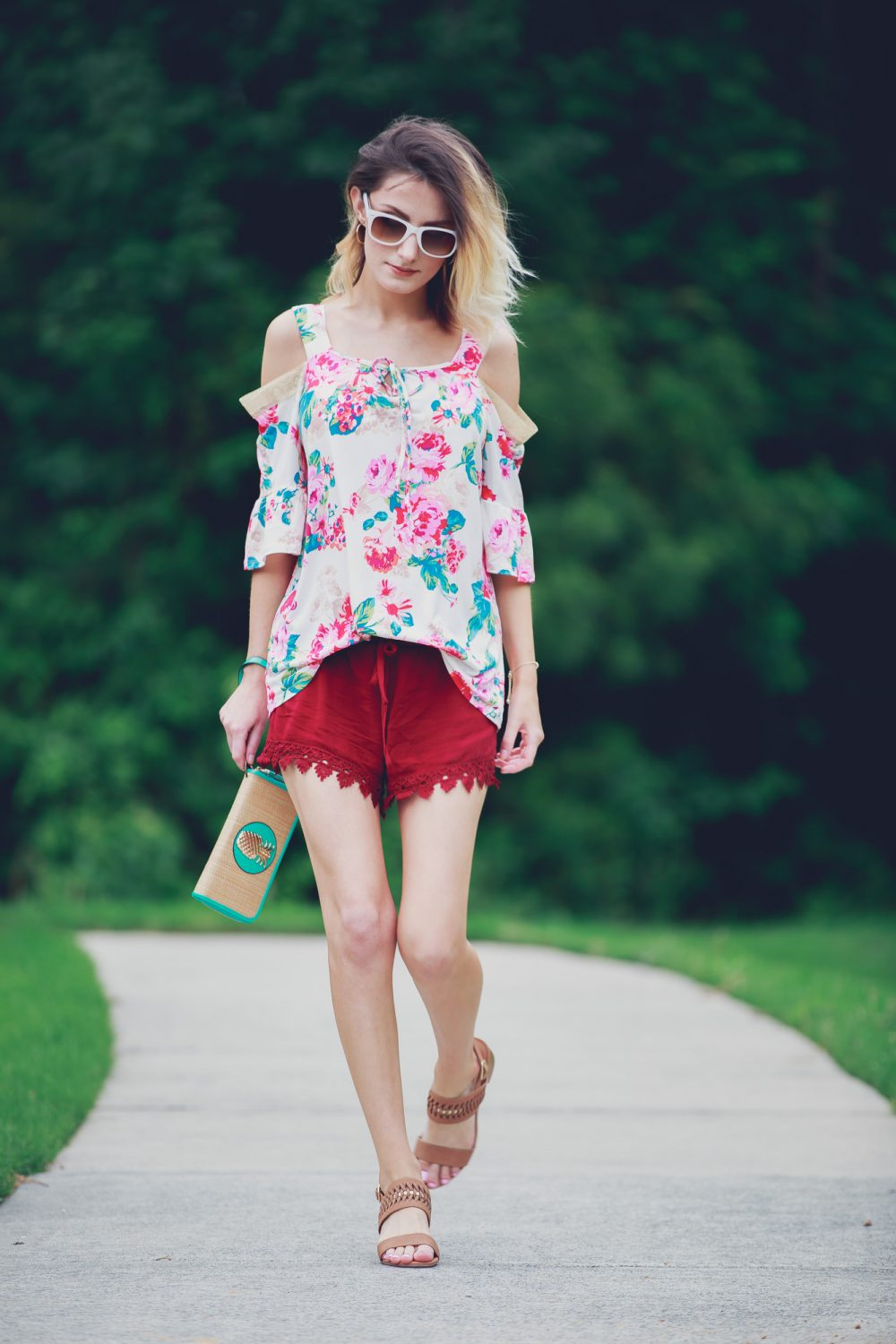 Cold Shoulder Floral