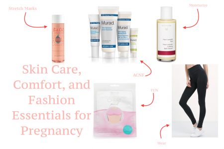 Pregnancy Essentials. Linn Style by fashion and Lifestyle blogger Jessica Linn. Essential skin care products to use during pregnancy to help clear and control acne, prevent stretch marks, and clothing to feel fashionable. Clothing Essentials for pregnancy and how to get good sleep during pregnancy.