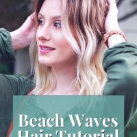 How To Get Messy Beach Waves | Wavy Hair Tutorial by popular North Carolina fashion, beauty, and lifestyle blogger and Youtuber Jessica Linn. Creating loose messy waves with a curling wand.