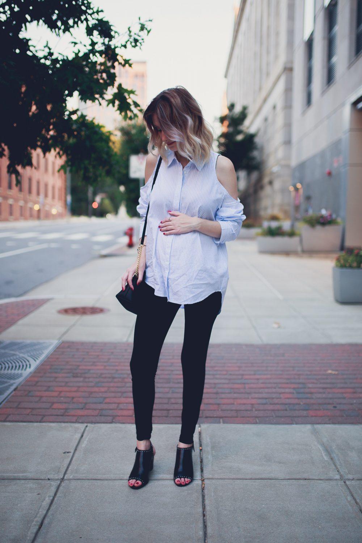 Cold Shoulders & Pinstripes