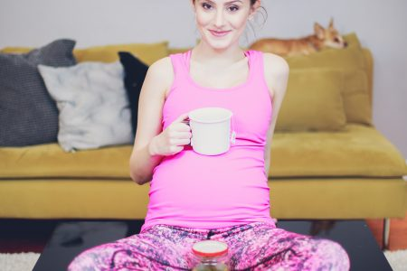 North Carolina Fashion, lifestyle, and beauty blogger Jessica Linn from Linn Style wearing POP! Maternity from Australia, a maternity fitness apparel company. Here are some pregnancy tips and tricks to help as you approach labor and to feel more comfortable. Yoga poses and tea to help prepare for an easier delivery.