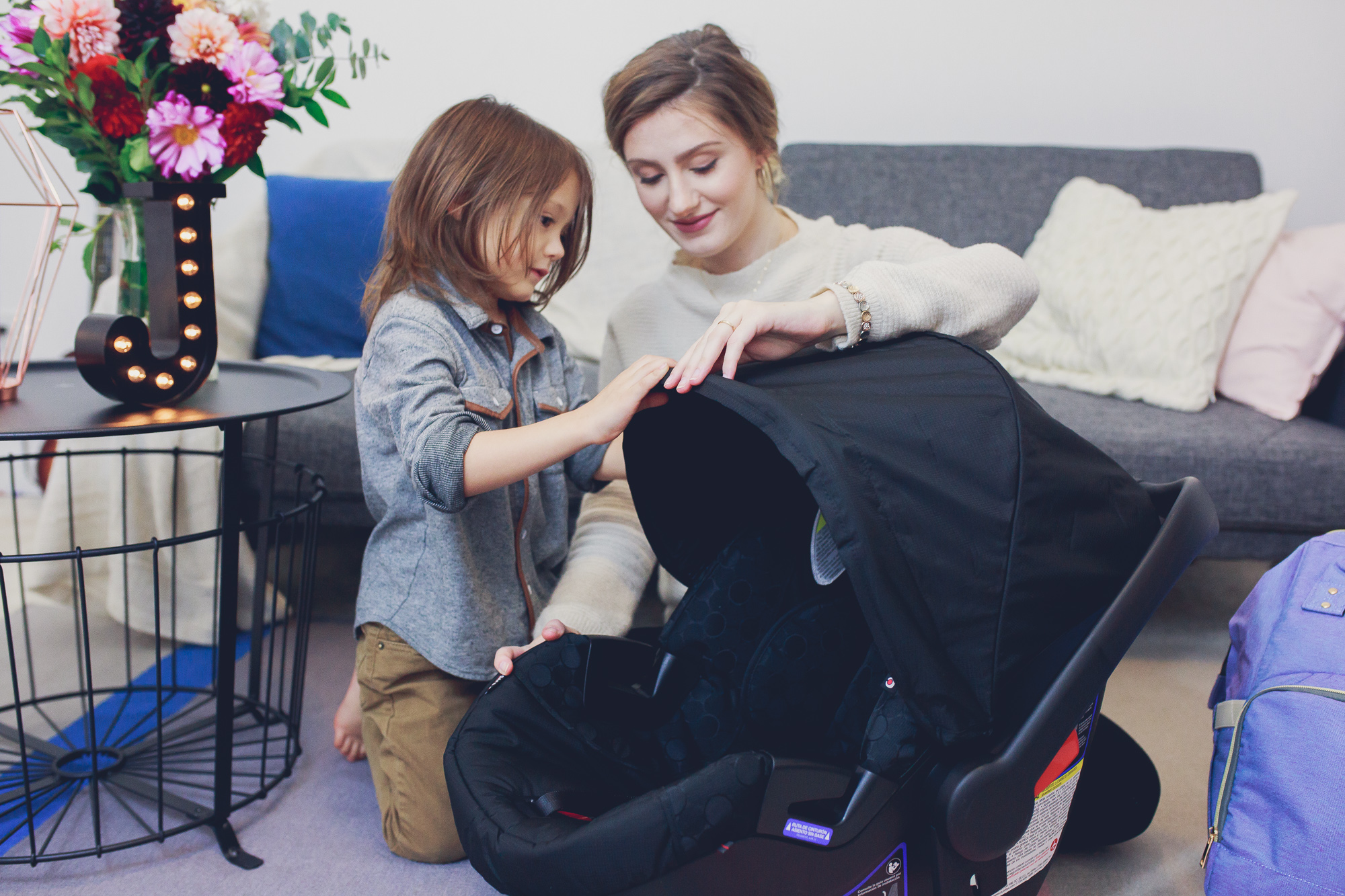 Amazon's baby registry is an easy place to save all of your hospital bag and baby essentials- Fashion and lifestyle blogger Jessica Linn from Linn Style packing baby hospital bag essentials using the ease of Amazon's Baby Registry