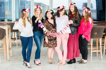 Flower Crowns with Petals on the Go | Valentines Day Party at Level7 Roof Top Bar at the AC Hotel | North Carolina fashion and lifestyle bloggers