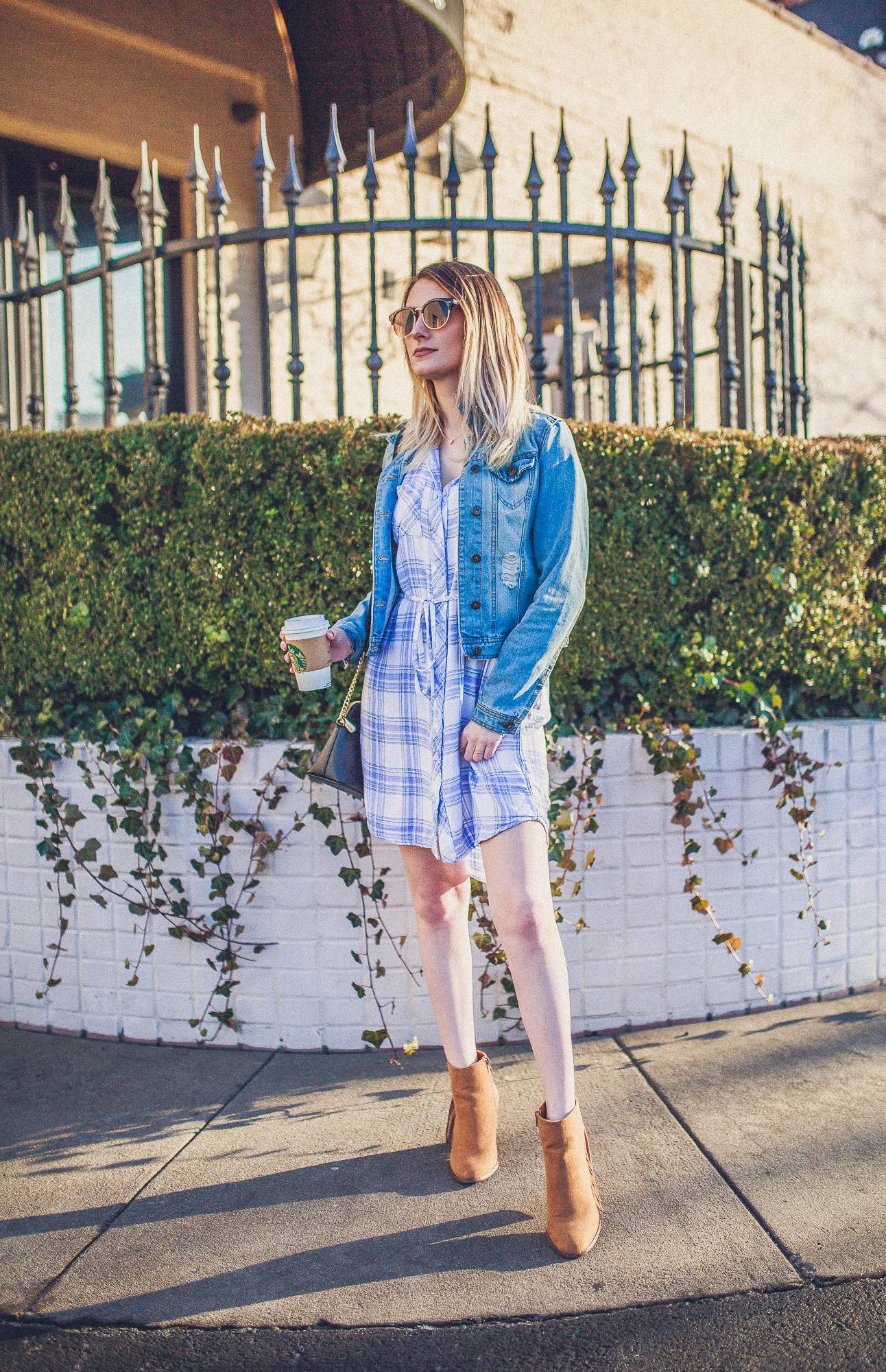 Plaid Year Round | Spring and Summer 2018 Trend . Outfit Inspiration by North Carolina fashion and lifestyle blogger Jessica Linn from Linn Style.