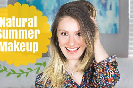 Easy and Quick Natural Summer Makeup Tutorial, perfect for pale skin with some light and natural contour bronzer and highlight. Natural Summer Makeup Tutorial by Jessica Linn