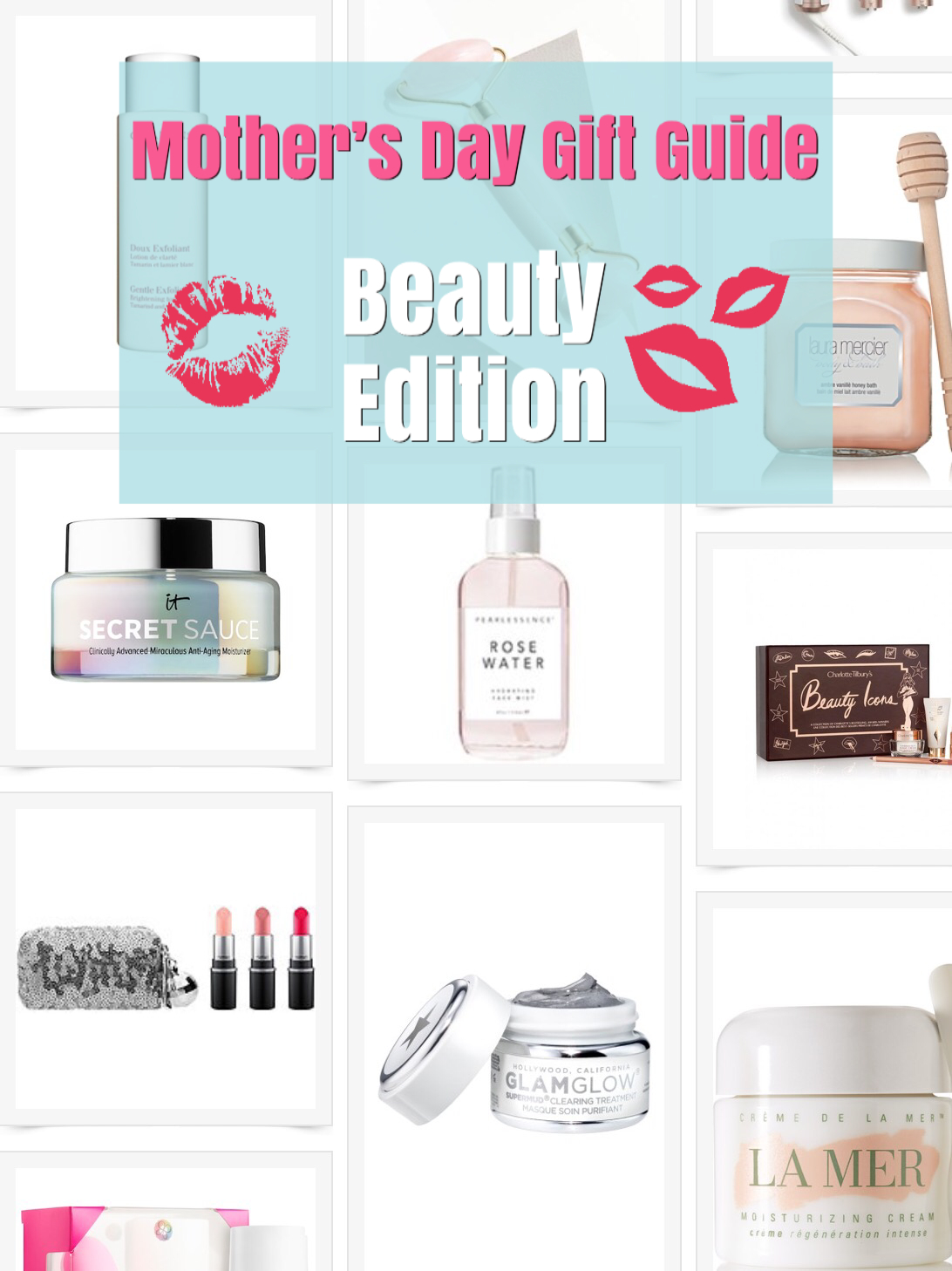 Mother's Day Gift Guide For Beauty Guru Moms and Glam-mas.  Makeup and skincare products to make mom feel as beautiful as she already is.