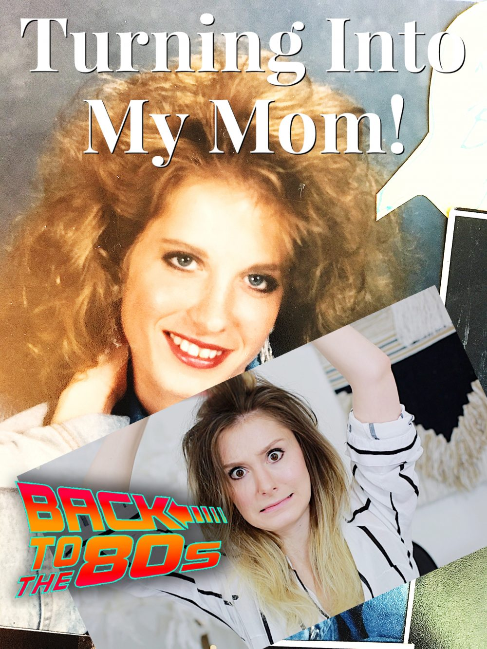 Recreating My Mom's Hair & Makeup | 80's Tutorial *EASY*