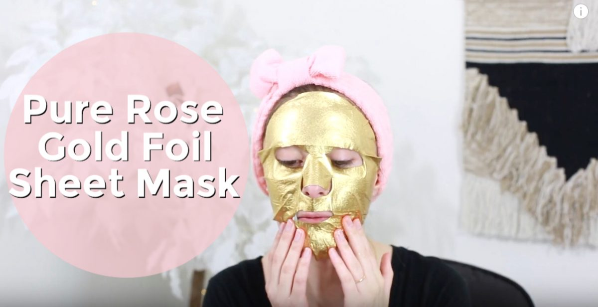 The Gold Foil Sheet Mask by Masque Bar. Review by North Carolina fashion and lifestyle blogger and youtuber Jessica Linn.