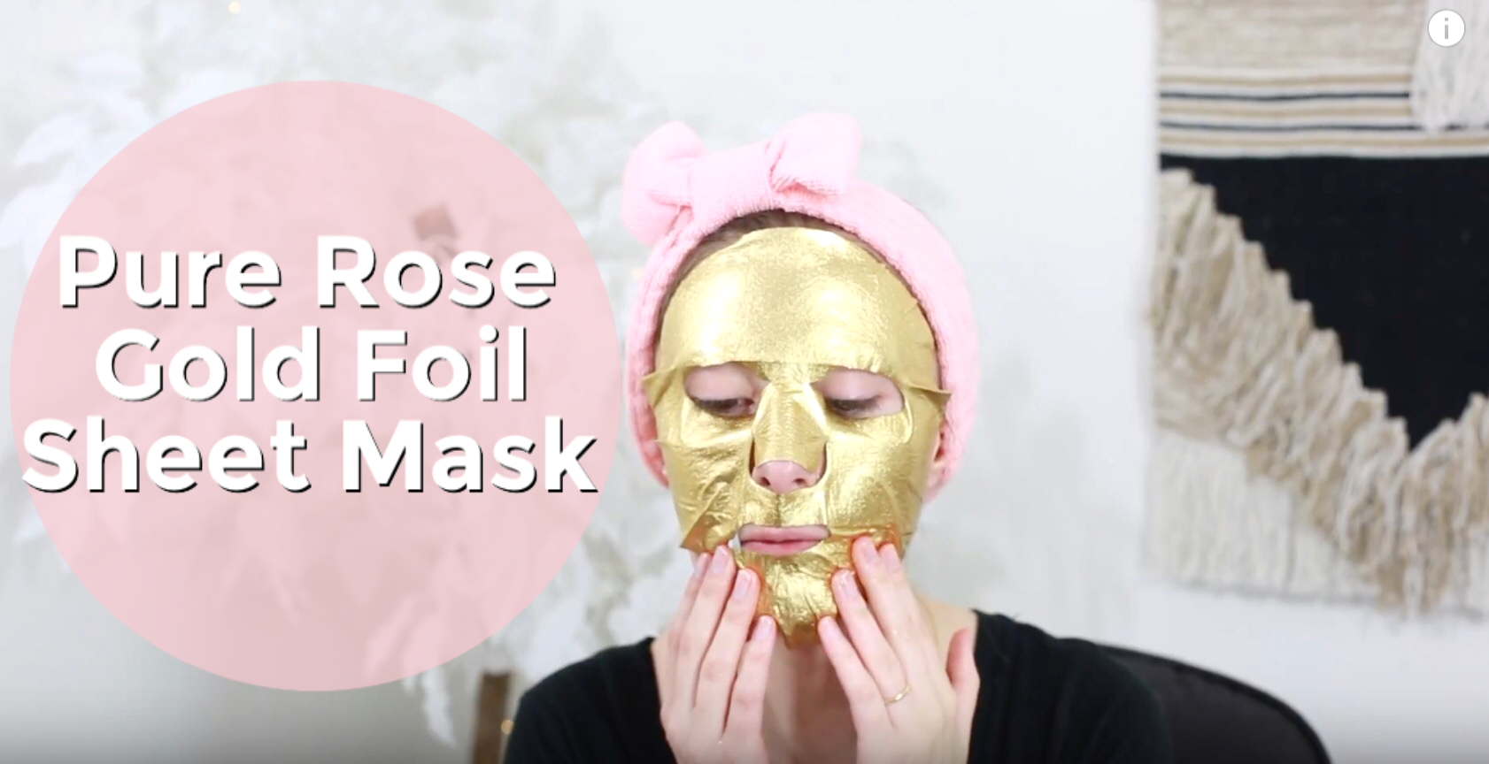 The Rose Gold Foil Sheet Mask by Masque Bar. Review by North Carolina fashion and lifestyle blogger and youtuber Jessica Linn.