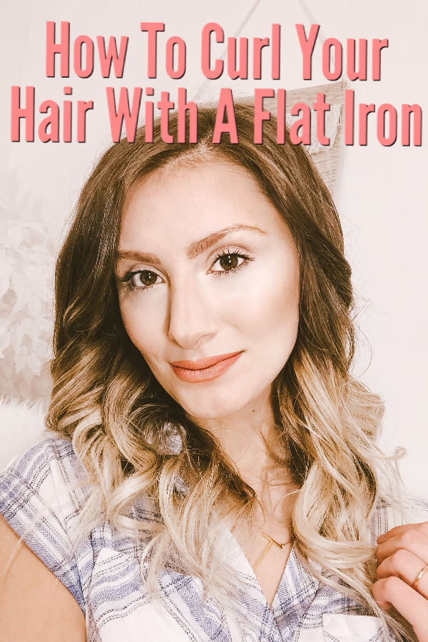 How To Curl Your Hair With A Flat Iron | Straightener Curls. Flat Iron Curling Hair Tutorial by North Carolina fashion, lifestyle, and beauty blogger and youtuber Jessica Linn
