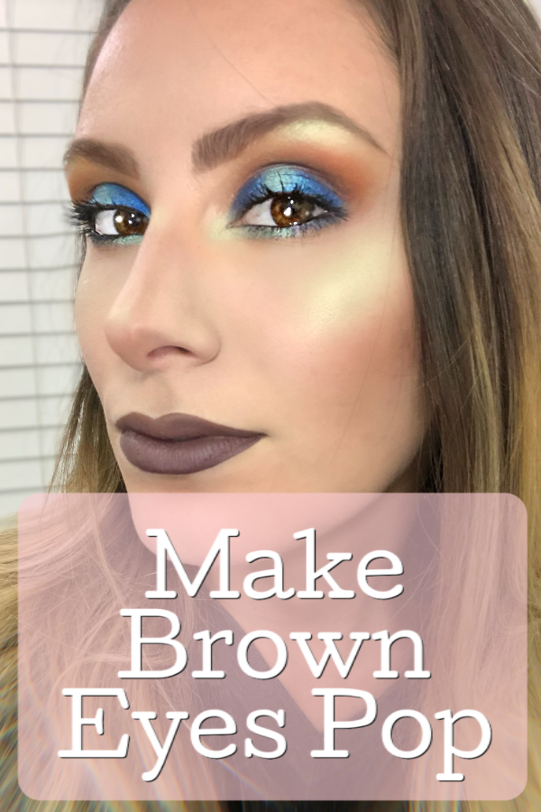 Blue Eyeshadow Makeup Tutorial For Brown Eyes