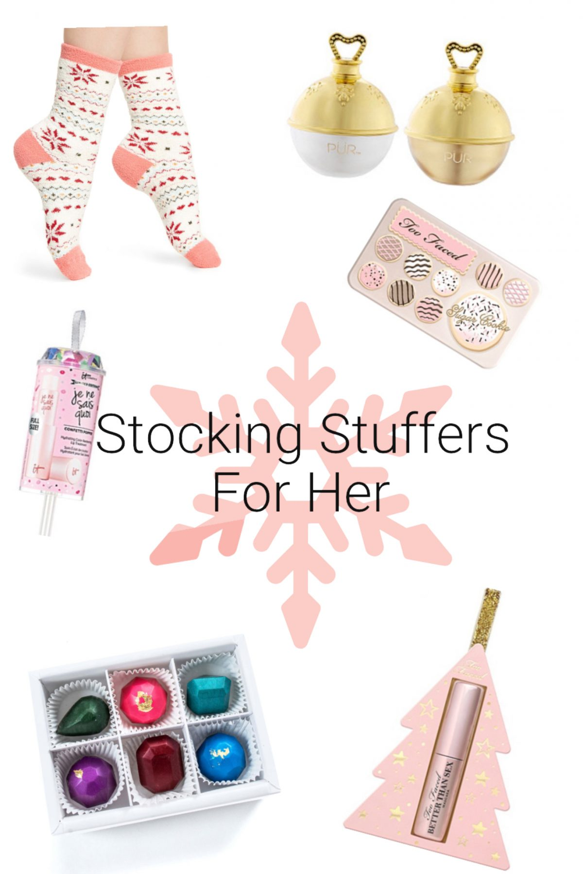 Stocking Stuffer Christmas Gift Ideas For Women | . Stocking Stuffers For All Women. Makeup, Skincare, chocolate, fuzzy socks, you name it!