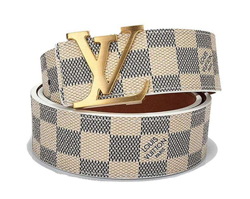 Designer Dupes on Amazon | Louis Vuitton White Belt Dupe by NC fashion blogger Jessica Linn