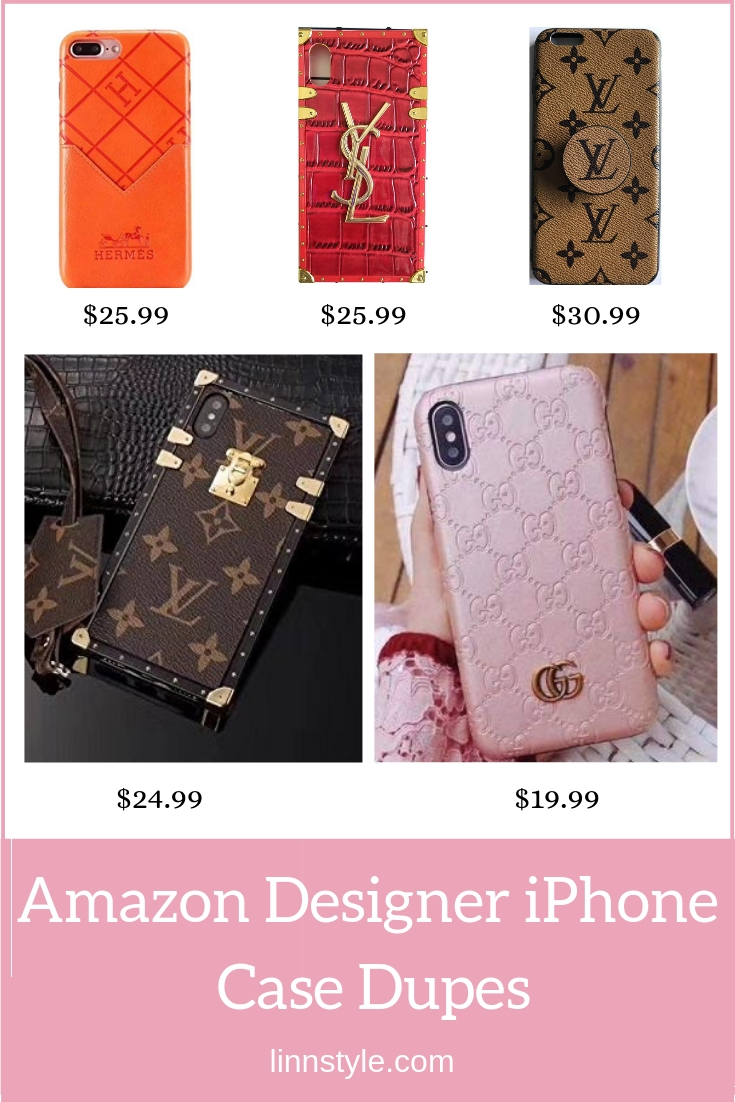 Designer Dupe iPhone Cases on Amazon