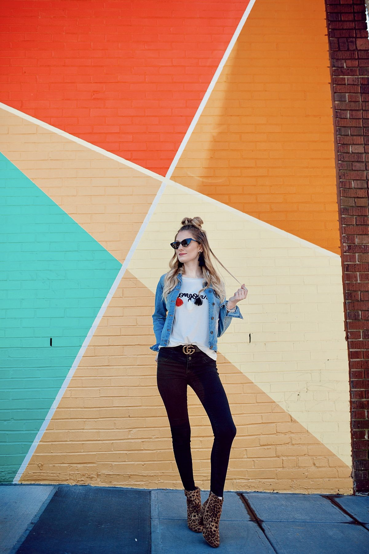 Tassel Bonjour Tee + Colorful Photo Spot in Raleigh NC