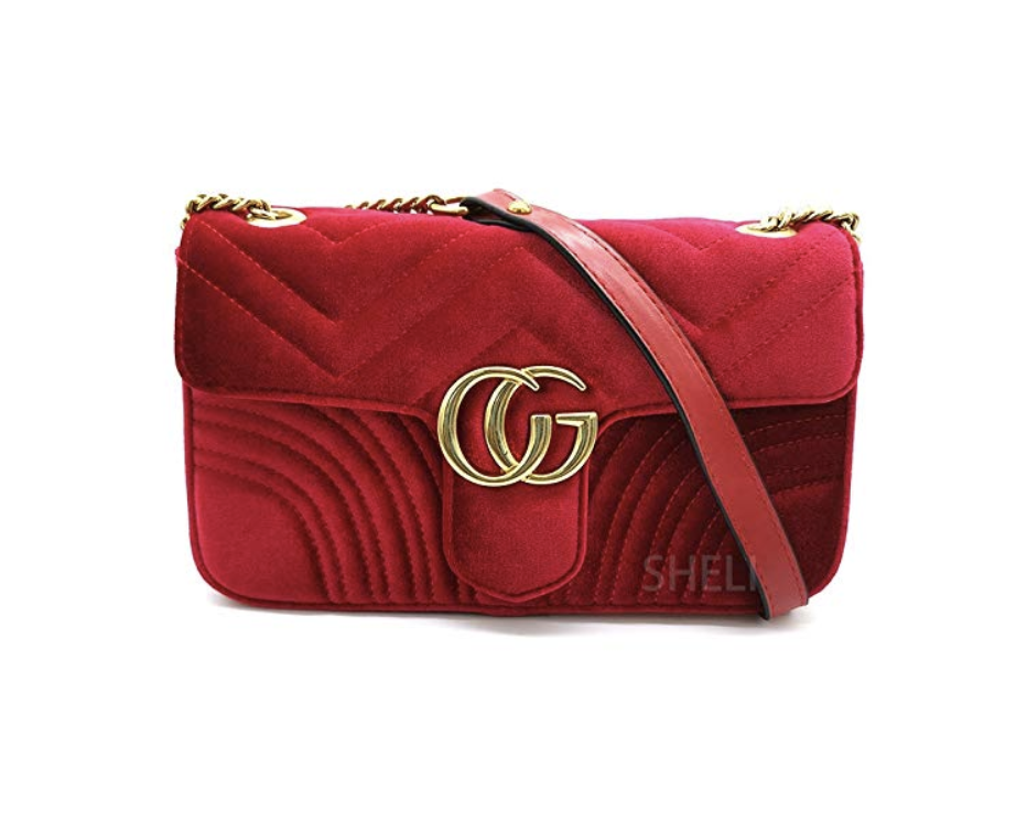 The Best Designer Bag Dupes On Amazon by blogger, Jessica Linn. Gucci Marmont dupe