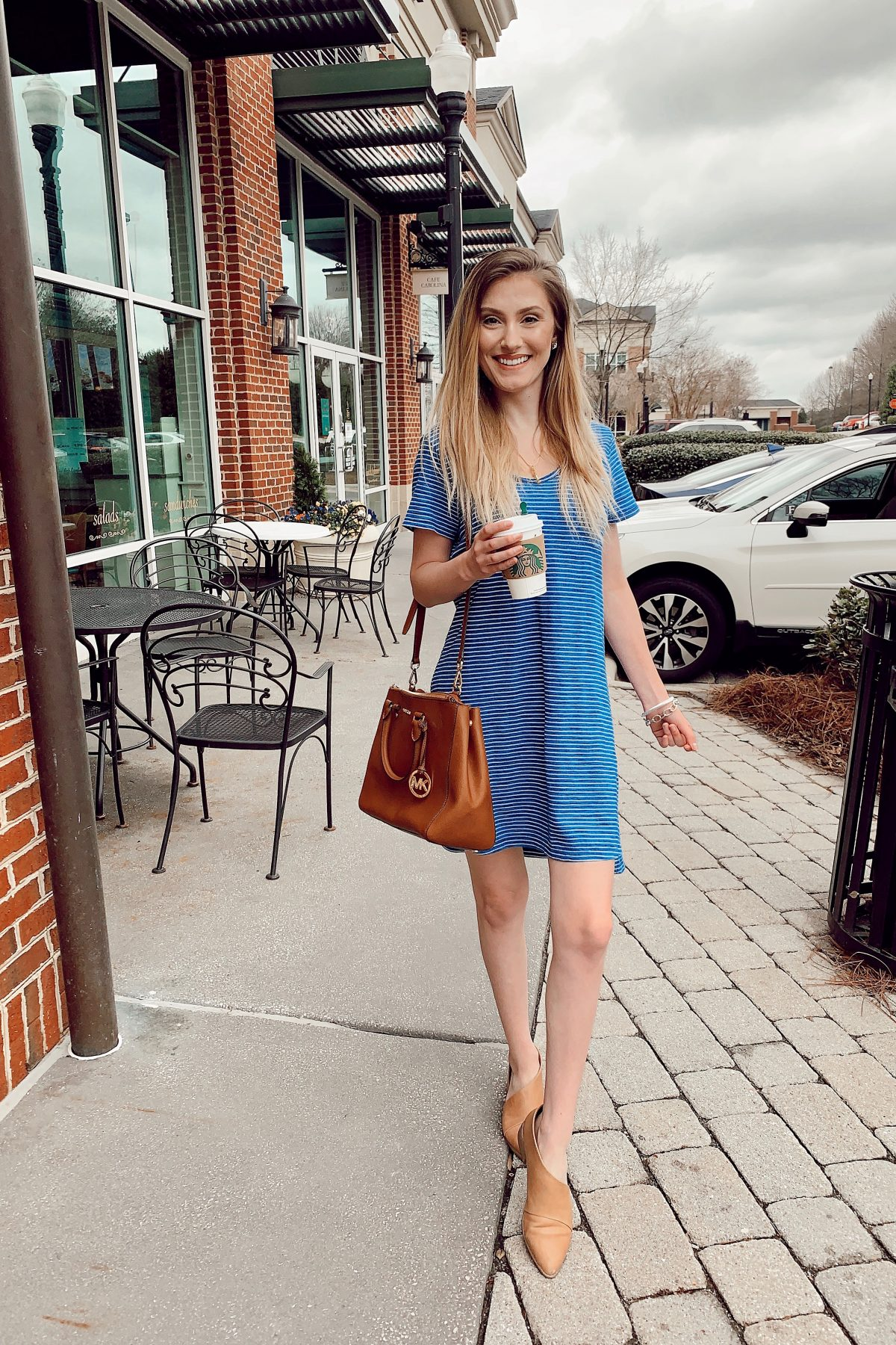 Simple T-Shirt Dress For Spring & Summer Casual outfit ideas by North Carolina fashion and lifestyle blogger Jessica Linn