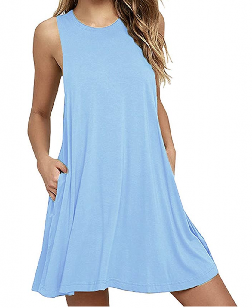Amazon Fashion Finds | All $20 Or Less Affordable blue t-shirt dress