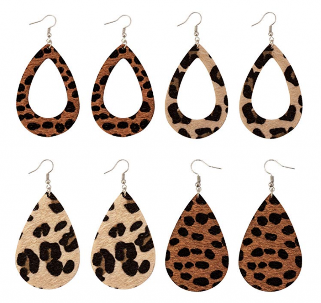 Amazon Fashion Finds | All $20 Or Less Faux leather leopard print earrings