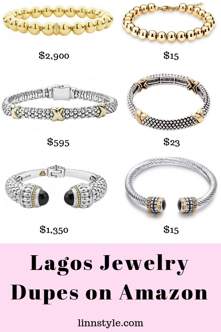 Lagos Jewelry Dupes on Amazon | Designer Dupes by fashion blogger Jessica Linn