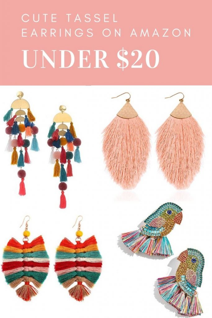 Summer Trend | Tassel Earrings on Amazon by Jessica Linn