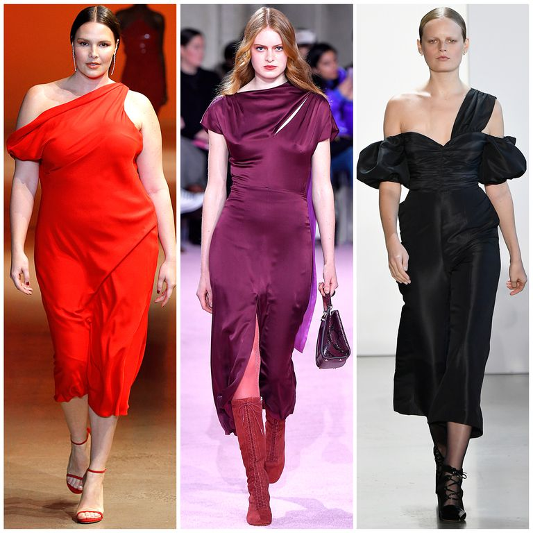 The Best Fall 2019 Fashion Trends Left to right: Cushnie, kate spade new york, Self-Portrait