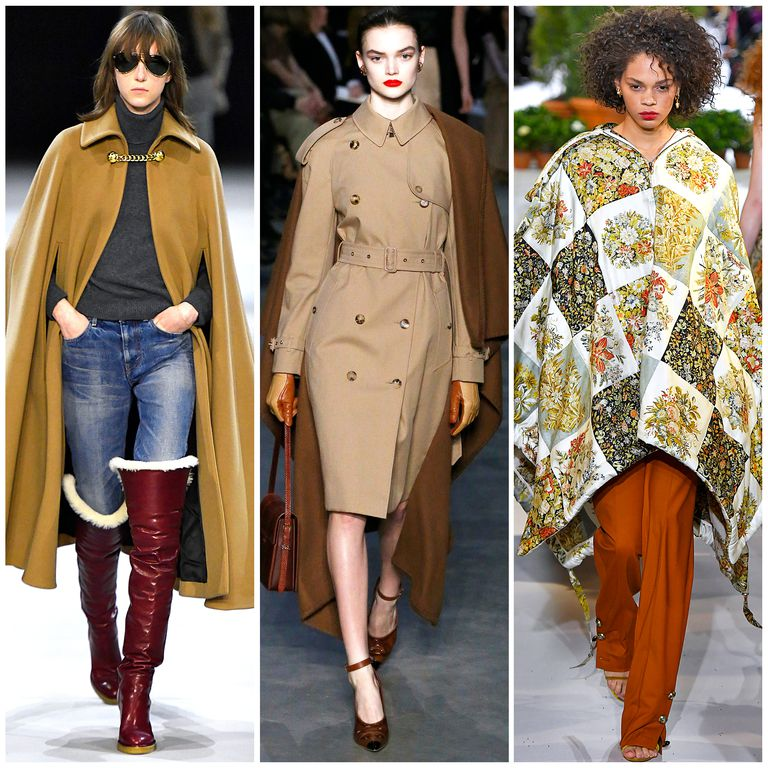 The Best Fall 2019 Fashion Trends Left to right: Céline, Burberry, Oscar de la Renta