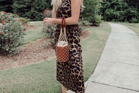 The Most Versatile $12 Dress + Staud Bucket Bag Alternative by North Carolina fashion blogger Jessica Linn.