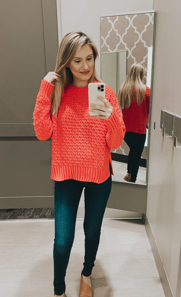 Non-Maternity Target Sweater Try-on While Pregnant by Jessica Linn
