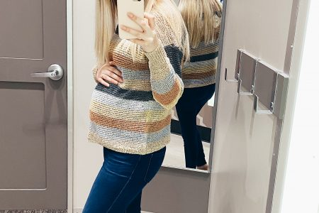 Trying On Non-Maternity Sweaters & Sweatshirts While Pregnant | Target by Jessica Linn