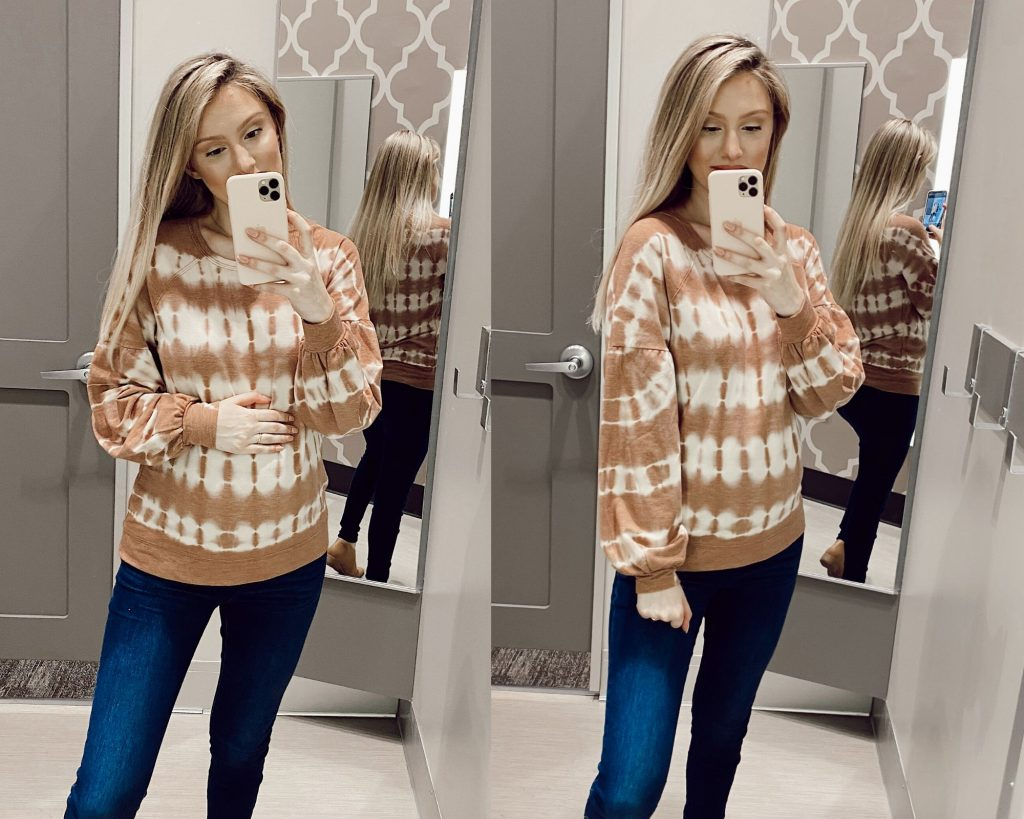 Knox Rose Balloon Long Sleeve Scoop Neck Blouse $24.99 Target Sweater Try-on and Review by Jessica Linn