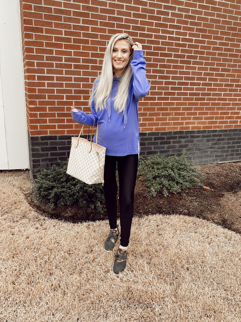 The Cute Athleisure Hoodie You'll Want In Every Color! From Linn Style by Jessica Linn Jessica Linn wearing a cute hoodie in violet from Walmart