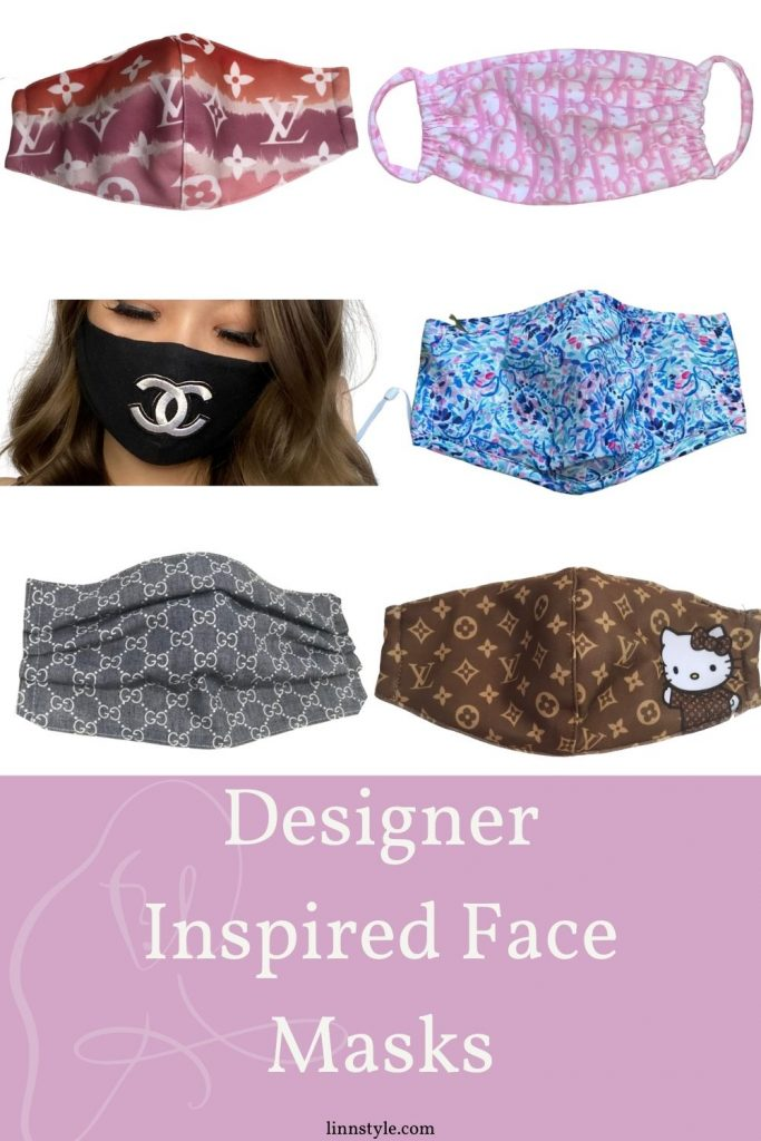 Designer Inspired Face Masks on Etsy | Linn Style by Jessica Linn