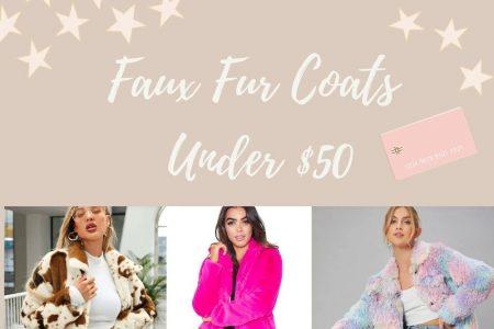 Faux Fur Coats Under $50 by Jessica Linn