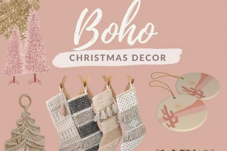 Boho Chic Christmas Decorations by Jessica Linn